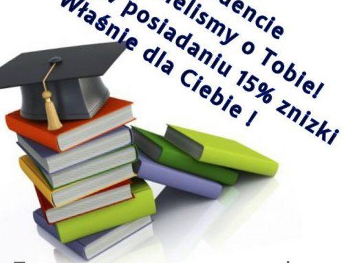 -15% dla Studentów